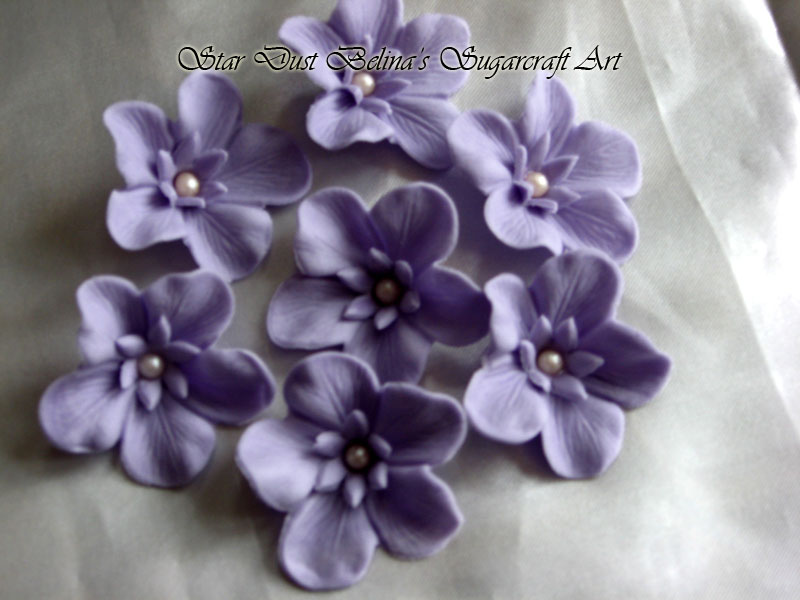$Light Purple sugar flowers