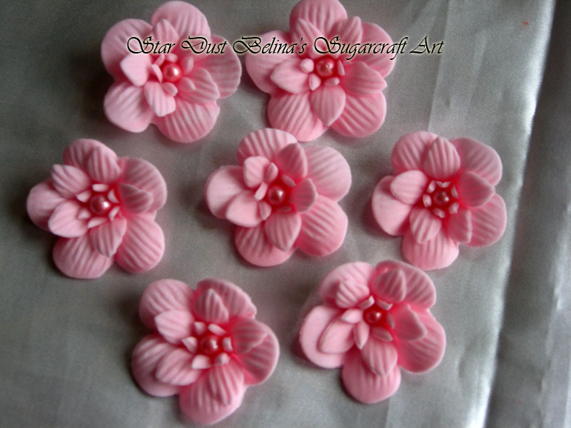 $Three layer pink flowers