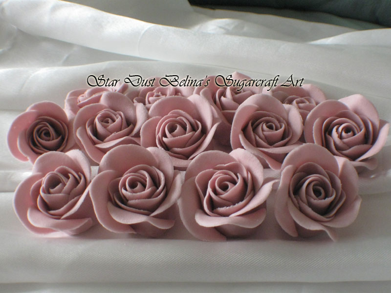 $Lilac roses sugar flowers