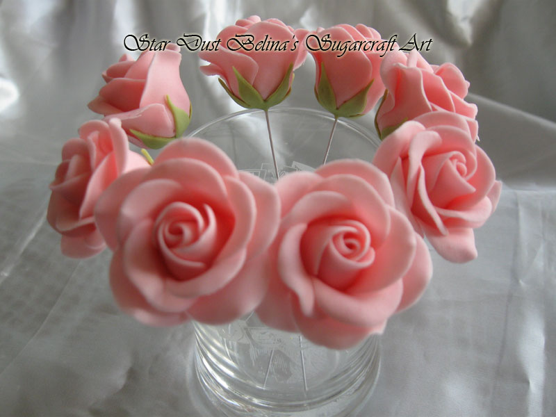 Pink wired roses flowers