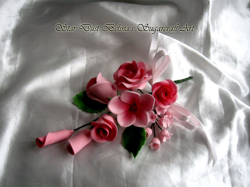 $Wired Sugar Roses Flowers in Pink