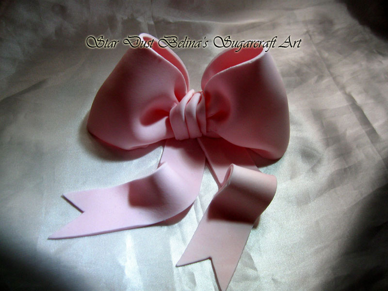 Edible Handcrafted Pink Bow
