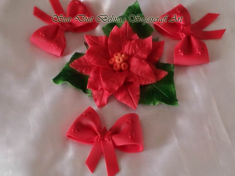 Handcrafted Christmas Poinsettia/ Bows