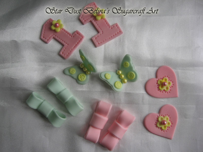 Edible sugar decorations